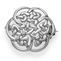 Sterling Silver Round Celtic Brooch. Size: 20mm Weight: 2.8gms 9018