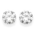 Sterling Silver Large Round clear Cubic Zirconia Stud Earrings -Size: 10mm 5771CZ