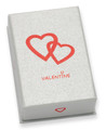 VALENTINE GIFT BOX Silver cardboard Earrings/small pendant box 40mm x 60mm x 18mm  B43VAL