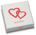 Good quality VALENTINES GIFT BOX - Silver cardboard Pendant/Large earrings box 60 x 60 x 18 - B42VAL