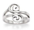 Sterling Silver Double swirls ring - excellent quality 3gms. 1252