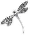 Sterling Silver Art Deco Dragonfly Brooch - Size: 34mm x 50mm. 9005 (previously 9006)