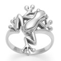 Solid Sterling Silver Frog Ring - 23mm at widest part 1220