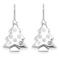 Sterling Silver Christmas Tree Earrings SIZE 25mm  6164 - Box NOT included