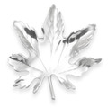 Stunning Hallmarked Sterling Silver Maple Leaf Brooch - Size: 45mm x 40mm  8.5 grams 9032