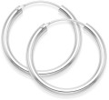 Sterling Silver thick Hoop Earrings - SIZE: 30mm x 3mm. 6276