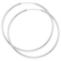 Sterling Silver  Thicker Hoop earrings - Size: 60 mm x 2mm 6233