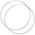 Sterling Silver Hoop Earrings - Size: 50mm x 1.2mm. 6250