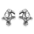 Sterling Silver Tropical bird stud - SIZE: 8mm x 7mm 5001