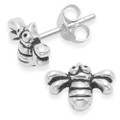 Sterling Silver Bee Studs - Size: 9mm x 7mm x 2mm thick 5086