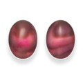 Sterling Silver Oval Dyed Pink Paua Shell Stud Earrings 5831PK