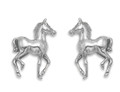 Sterling Silver Horse Stud Earrings - Foal Stud Earrings - SIZE: 12 mm x 7mm - 5008