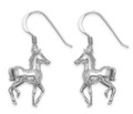 Sterling Silver Foal Drop Earrings - SIZE: 18 x 9 mm - Horse drop earrings 6125