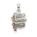 Sterling Silver Children's Koala Bear Enamel Pendant - SIZE: 4837. Chain not included