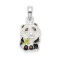 Sterling Silver Children's Panda Enamel Pendant - SIZE:7mm 4836. Chain not included