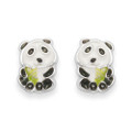 Children's Panda Enamel stud Earrings - SIZE:   5936