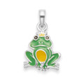 Sterling SilverChildren's Frog Prince Enamel Pendant - SIZE: 10mm x 11mm. 4833. Chain not included