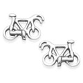 Sterling Silver Children's Bicycle stud Earrings - SIZE:8mm x 6mm. 5390  LAST PAIR