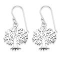 Sterling Silver Tree of Life Earrings - SIZE: 15mm x 16mm. 6098
