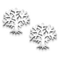 Sterling Silver Tree of Life stud Earrings - SIZE: 11mm x 11mm