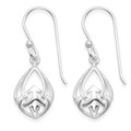 Sterling Silver Celtic Earrings -   Teardrop shape - Size: 10mm x 12mm. 6405
