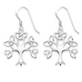Sterling Silver Celtic Tree of Life drop Earrings - SIZE:  20mm x 19m. 6099