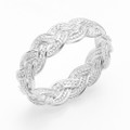 Beautiful quality Ring - sparkles - hand made - Sterling Silver Ring - Plaited rope design -  1.9gms 1260