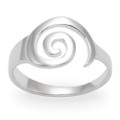 Sterling Silver Ring with Swirl 1200
