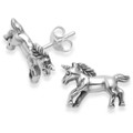 Sterling Silver Unicorn Stud Earrings.  Size: 14mm x 9mm. Weight: 2.3gms. Good quality. 5173