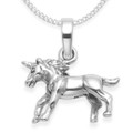 Sterling Silver Unicorn Pendant - Size: 16mm. Excluding chain. 4930