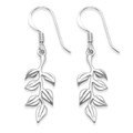 Sterling Silver Rennie Mackintosh Leaf Earrings - Size: 10mm x 24mm (plus earring wires)- weight 2.15gms. Solid silver  - excellent quality. 6385