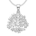 Sterling Silver Tree of Life Pendant - SIZE: 19mm x 19mm plus pendant top - weight: 1.4gms. Excluding Chain. 4994