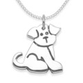 Sterling Silver Dog Pendant - SIZE: 15mm x 16mm  - weight: 2.7gms. Excluding Chain. 4964