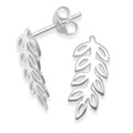 Sterling Silver Sterling Silver leaf stud Earrings - SIZE: 16mm x 7mm. Solid - weight: 1.4gms. 5261