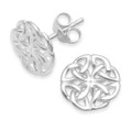 Sterling Silver  round Celtic stud Earring: SIZE: 10mm. 5428