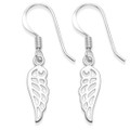 Sterling Silver Open design Angel Wing Earrings.  Size: 15mm x 5mm 6145