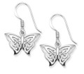 Sterling Silver Celtic filigree Butterfly Earrings - SIZE: 16mm x 10mm (plus earring wires) 6039