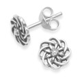 Sterling Silver Flower Earrings. Size: 7mm - 5043