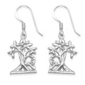 Sterling Silver Tree of Life Earrings - Size: 20 x 12mm. 6093