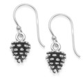 Sterling Silver Sterling Silver Pine Cone Earrings - Size: 12mm x 7.5mm. 6089