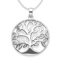 Sterling Silver tree of life pendant - Size: 27mm x 27 mm (35mm inc. pendant top - see photo with coins).  Excluding chain. 4995