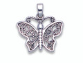 Sterling Silver Sterling filigree Butterfly Pendant- Size: 19mm x 15mm 8130
