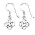 Sterling Silver Celtic knot Drop Earrings - size: 9mm. 6420