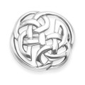 Sterling Silver Celtic Brooch - Size: 23mm. Round Celtic Brooch 9015
