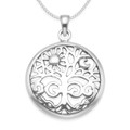 Sterling Silver Tree of Life Pendant with Sun & Moon - SIZE: 24mm. Lovely quality - weight 5.4gms. 8096. Excluding chain