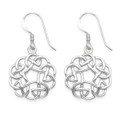 Sterling Silver Round Celtic Earrings with open middle - SIZE: 16mm  6046
