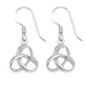 Sterling Silver Celtic knot Earrings 3D design Celtic drop earrings - Size: 12.5mm (27mm including earring wire) Double sided 6425