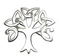 Sterling Silver Tree of Life Brooch - Celtic tree of life Brooch - SIZE: 38mm x 38mm - weight:6gms 9099