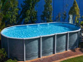 8.2m x 3.65m x 1.37m Salt Water Above Ground Pool