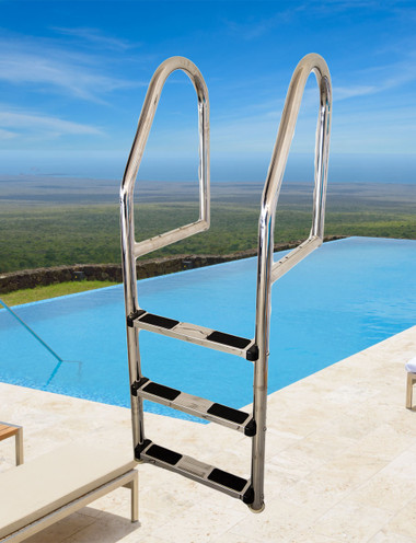 Classic Stainless Steel Pool Ladder Pool Shop Direct